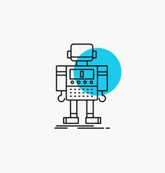Autonomous machine robot robotic technology line vector