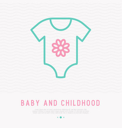 baby body thin line icon vector image