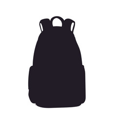 backpack silhouette vector image