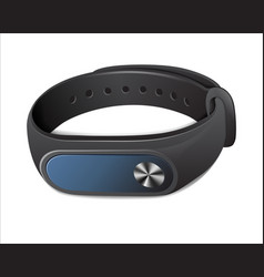 Black fitness bracelet vector