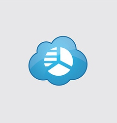 Blue cloud circle diagram icon vector