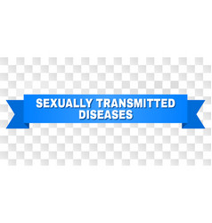 Blue ribbon with sexually transmitted diseases vector