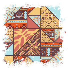 Boho african background vector