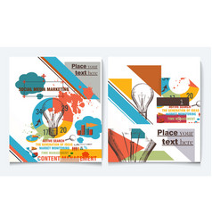 Brochure flyer design template cover vector