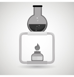 Burner tube lab chemistry vector