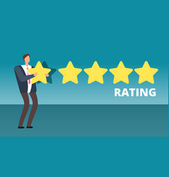 Businessman giving five star rank best work vector
