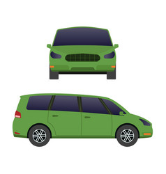car vehicle mini van transport type design travel vector image