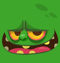 cartoon halloween zombie face vector image