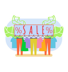 Clothing shop clearance sale vector