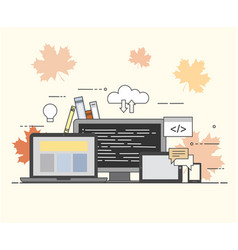 Cloud internet common storage for all devices vector