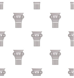 column icon in cartoon style isolated on white vector image