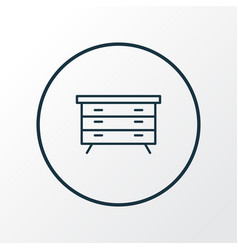 dresser icon line symbol premium quality isolated vector image