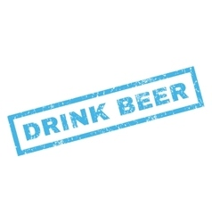 Drink Beer Rubber Stamp vector