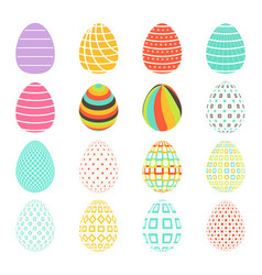 easter spring set colored isolated eggs vector image
