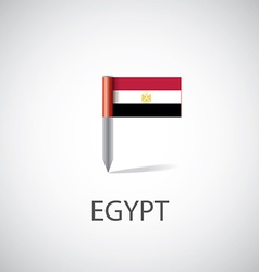 Egypt flag pin vector