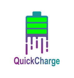 fast power energy logo template quick charge vector image