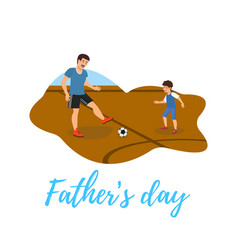 flat banner fathers day ball game in air vector image