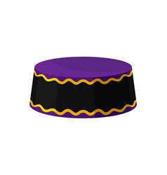 flat icon of purple-black kufi hat vector image
