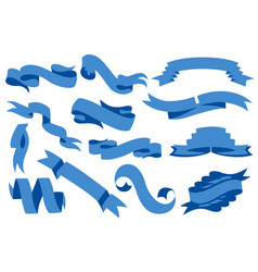 flat ribbons banners isolated on white vector image