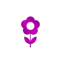 Flower icon Flat design style vector