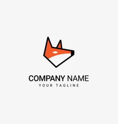 fox head logo vector image