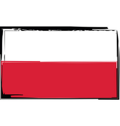 grunge poland flag or banner vector image