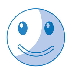 Happy emoticon face kawaii style vector