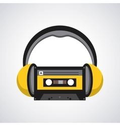 Headphones icon design vector