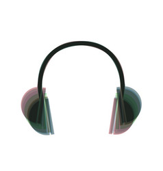 headphones sign colorful vector image