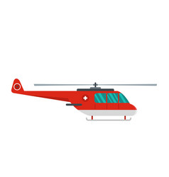 Helicopter icon flat style vector