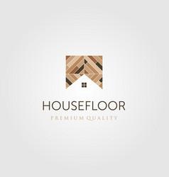 House floor wood parquet flooring vinyl emblem vector