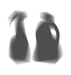Household chemical bottles sign gray icon vector