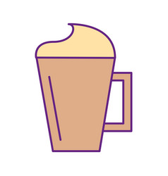 iced coffee cup isolated icon vector image