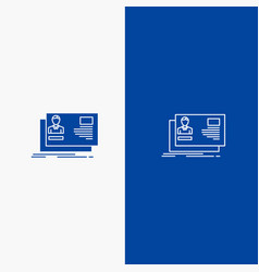 Id user identity card invitation line and glyph vector