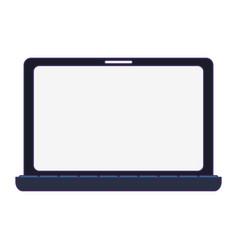 laptop computer technology blue lines vector image