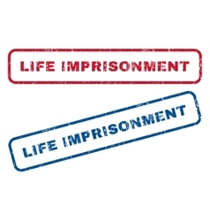 Life Imprisonment Rubber Stamps vector image