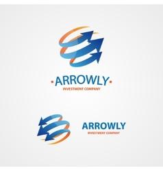 logo design element Arrow scope circle vector image