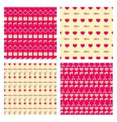 Love Seamless pattern set vector image