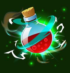 magic potion poison bottle composition vector image