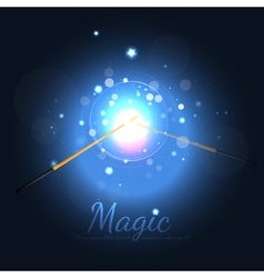Magic Wands Battle With Stars vector image