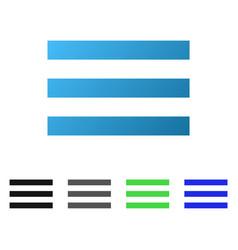 Menu lines flat gradient icon vector