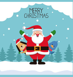 merry chrismtas card cartoon vector image