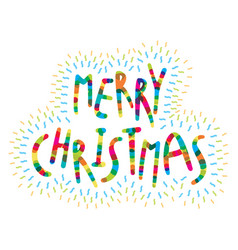 Merry christmas greeting card design vector