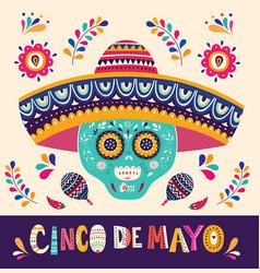 mexican holiday 5 may cinco de mayo vector image