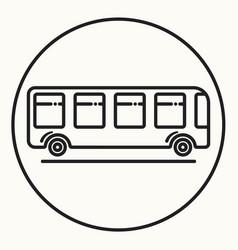 Minimal outline bus icon vector