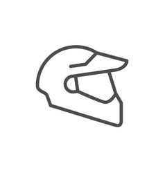 Modern helmet line outline icon vector