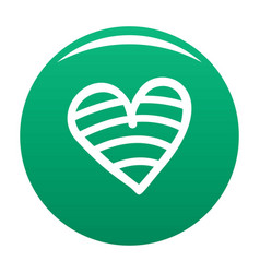 New heart icon green vector