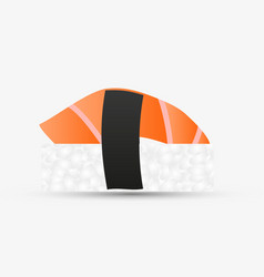 one isolated nigiri sushi with salmon simple icon vector image