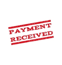 Payment Received Watermark Stamp vector image