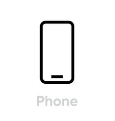 phone icon editable outline vector image